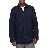 Universal Works Navy Long Bakers Jacket Blue