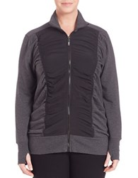 Marc New York Ruched Front Thumbhole Jacket Charcoal