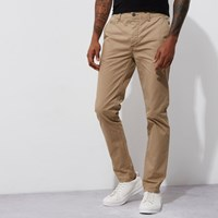 River Island Light Brown Stretch Skinny Chino Trousers
