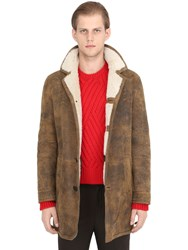 Neil Barrett Vintage Effect Shearling Coat