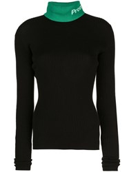 Proenza Schouler Lightweight Ribbed Sweater Black