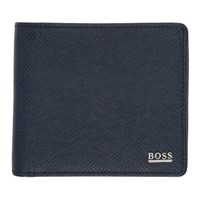Boss Navy Signature Wallet