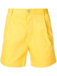Unconditional Tailored Flap Pocket Shorts Yellow And Orange