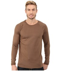 Terramar Military Fleece Crew Military Brown Men's Long Sleeve Pullover
