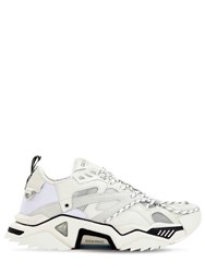 Calvin Klein 205W39nyc Suede And Mesh Sneakers White