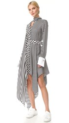 Monse Striped Dress White Black
