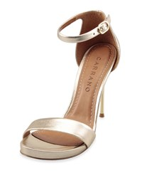 Carrano Tonya Leather High Heel Sandal Gold