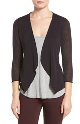 Nic Zoe Women's Open Blazer Cardigan Midnight