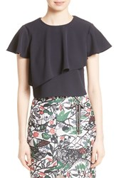 Ted Baker Women's London Deppiy Ruffle Crop Top