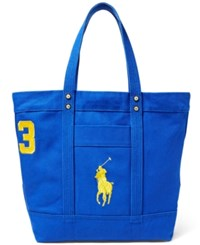 Polo Ralph Lauren Men's Big Pony Canvas Tote Rugby Royal