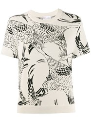 Red Valentino Bird Print Knitted Top 60