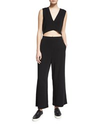 A.L.C. Edwards Sleeveless Wide Leg Jumpsuit Black
