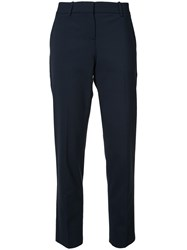 Theory Classic High Waisted Trousers Blue