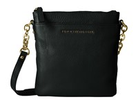 Tommy Hilfiger Eloise Pebble Leather Crossbody Black Cross Body Handbags