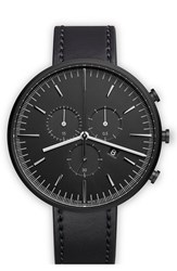 Uniform Wares Chronograph Leather Strap Watch 40Mm