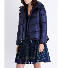 Sacai Quilted Padded Shell Jacket Navy