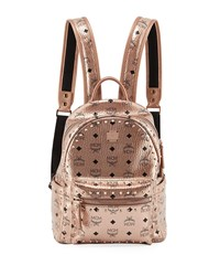 Mcm Stark Outline Studs Backpack Champagne Gold