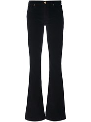 7 For All Mankind Flared Trousers Black