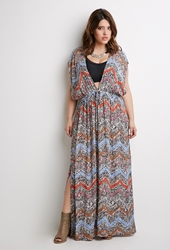 Forever 21 Tribal Print Coverup Black Multi