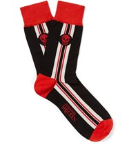 Alexander Mcqueen Stretch Cotton Blend Socks Black