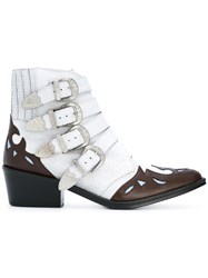 Toga Ankle Height Buckle Boots White