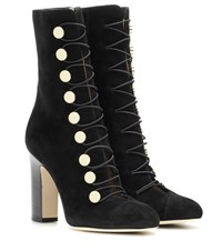 Jimmy Choo Malta 100 Suede Ankle Boots Black