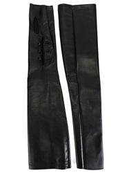 Maison Martin Margiela Maison Margiela Long Fingerless Gloves Black
