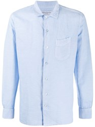 Officine Generale Plain Long Sleeve Shirt 60