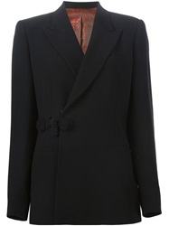 Jean Paul Gaultier Vintage Double Breasted Blazer Black