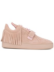 Filling Pieces Fringed Lace Up Sneakers Pink Purple