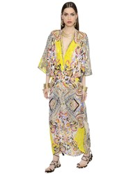 Etro Printed Silk Georgette Caftan Dress
