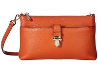 Michael Michael Kors Mercer Medium Snap Pocket Crossbody Orange Cross Body Handbags