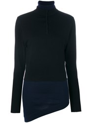 J.W.Anderson Double Layer Sweater Spandex Elastane Merino L Black