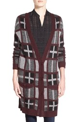 Women's Cupcakes And Cashmere 'Stanley' Plaid Cardigan