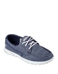 Skechers Mist Lace Up Sneakers Navy Blue