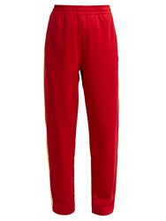 Acne Studios Norwich Face Jersey Track Pants Red