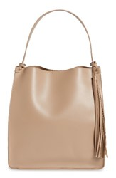 Sole Society Karlie Faux Leather Bucket Bag Pink Blush