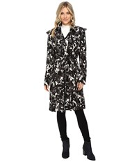 Norma Kamali Double Breasted Trench Combo Modern Camo Women's Coat Gray