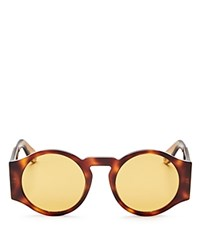 Givenchy Round Wide Arm Sunglasses 50Mm Light Havana Brown