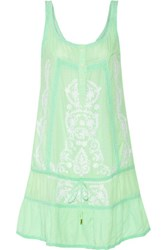 Melissa Odabash Jaz Embroidered Voile Dress Mint