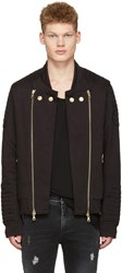 Balmain Pierre Black Convertible Zip Up Sweater
