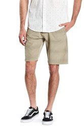 Burnside Striped Stretch Short Gray