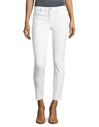 Sanctuary Frayed High Rise Jeans White