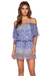 Gypsy 05 Georgette Dolman Mini Dress Blue