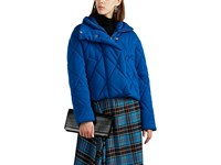 Cedric Charlier Diamond Quilted Wool Puffer Jacket Blue