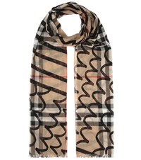 Burberry Wool And Silk Scarf Multicoloured