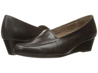 Aerosoles Lovely Dark Brown Leather Women's Flat Shoes