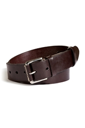North Sea Leather Convoy Belt In Dark Brown