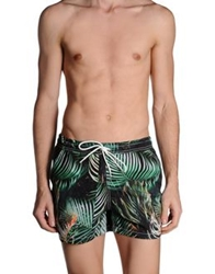 Franklin And Marshall Swimming Trunks Green