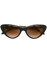 Cutler And Gross Oversized Cat Eye Sunglasses Brown